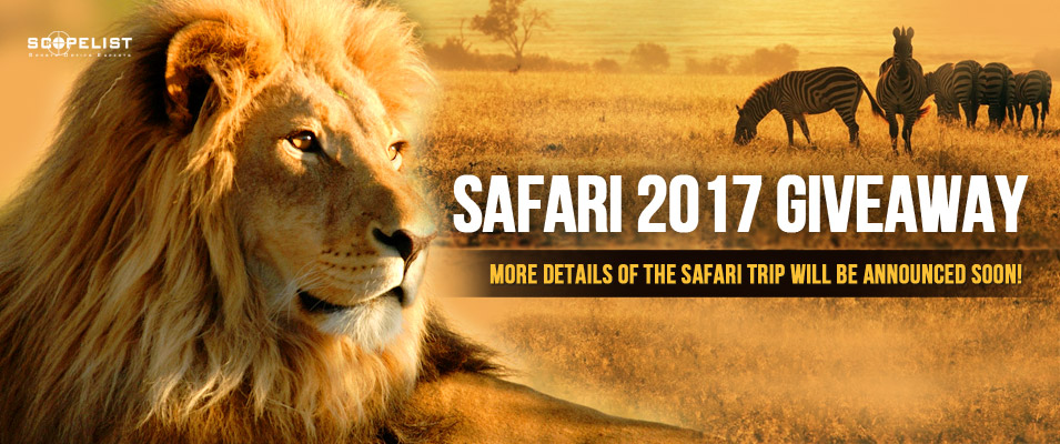 Scopelist Safari Trip Giveaway 2017