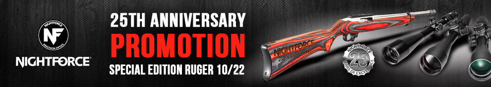 Nightforce Optics 25th Anniversary Special Edition Ruger 10/22 Promotion